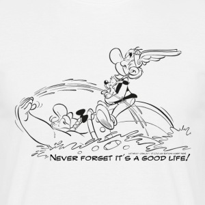 Asterix & Obelix - Never Forget... B/W - T-shirt herr