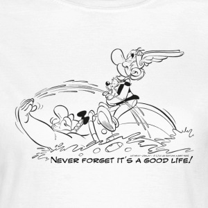 Asterix & Obelix - Never Forget... B/W - T-skjorte for kvinner
