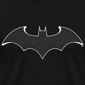 DC Comcis Batman Bat Signal Striped Logo - Herre premium T-shirt