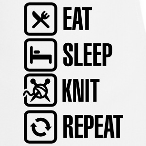 Eat Sleep Knit Repeat Fartuchy - Fartuch kuchenny