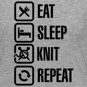 Eat Sleep Knit Repeat Langarmshirts - Frauen Premium Langarmshirt