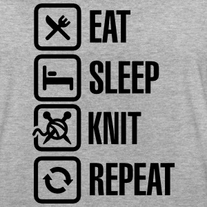 Eat Sleep Knit Repeat T-skjorter - Oversize T-skjorte for kvinner