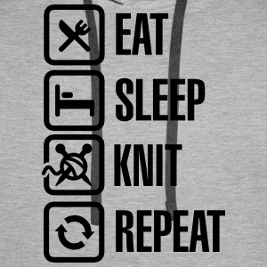 Eat Sleep Knit Repeat Tröjor - Premiumluvtröja herr