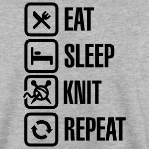 Eat Sleep Knit Repeat Sweaters - Mannen sweater