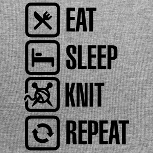 Eat Sleep Knit Repeat Czapki  - Czapka krasnal z dżerseju