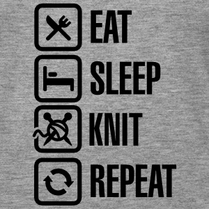 Eat Sleep Knit Repeat Toppar - Premiumtanktopp dam