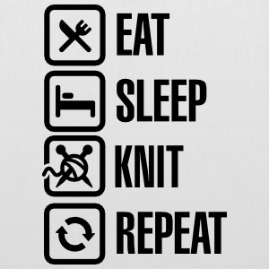 Eat Sleep Knit Repeat Tasker & rygsække - Mulepose
