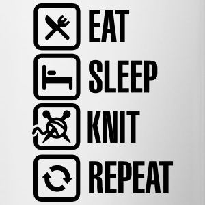 Eat Sleep Knit Repeat Mokken & toebehoor - Mok tweekleurig