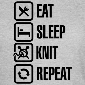 Eat Sleep Knit Repeat T-skjorter - T-skjorte for kvinner