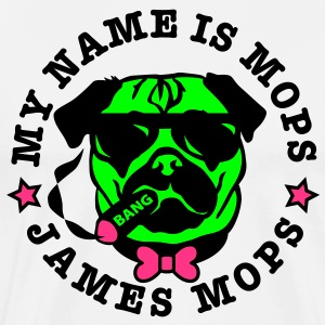 My Name is Mops - James Mops Bond Pop Art T-Shirt - Männer Premium T-Shirt