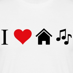 I LOVE HOUSE MUSIC - Männer T-Shirt