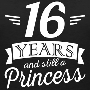 16 years and still a princess T-shirts - T-shirt med v-ringning dam