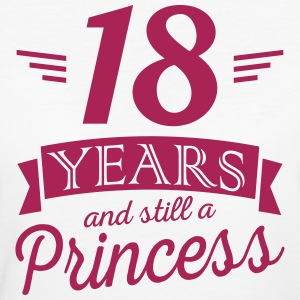 18 years and still a princess Tee shirts - T-shirt Bio Femme