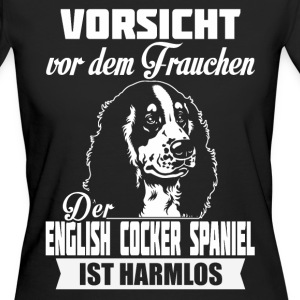 English Cocker Spaniel - attention Tee shirts - T-shirt Bio Femme