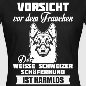 Witte Zwitserse herder - Let op T-shirts - Vrouwen T-shirt
