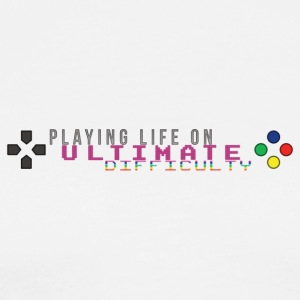 Playing Life On Ultimate Difficulty by JuiceMan - Men's Premium T-Shirt