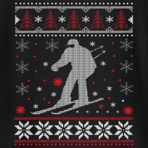 Skiing - ugly Christmas Baby Long Sleeve Shirts - Baby Long Sleeve T-Shirt