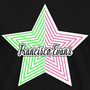 Francisco Evans Star Collection 08 T-shirts - Herre premium T-shirt