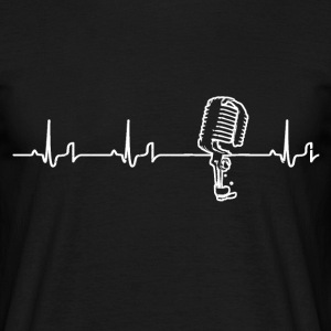 Heartbeat - microphone T-Shirts - Men's T-Shirt