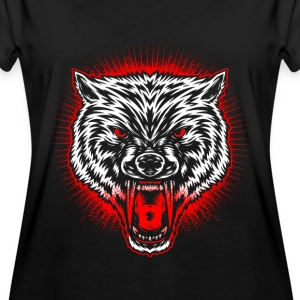 Wolfs hoved T-shirts - Dame oversize T-shirt