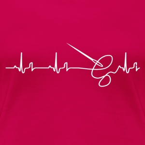 Heartbeat - syning T-shirts - Dame premium T-shirt