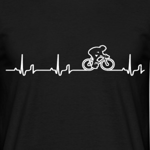 Heartbeat - racing bike T-Shirts - Men's T-Shirt