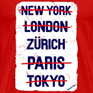 NY London Zürich..., Francisco Evans ™ T-skjorter - Premium T-skjorte for menn