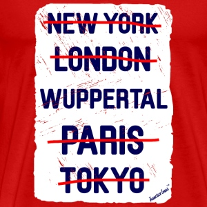 NY London Wuppertal..., Francisco Evans ™ T-shirts - Mannen Premium T-shirt