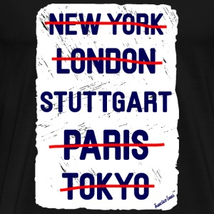 NY London Stuttgart..., Francisco Evans ™ T-shirts - Herre premium T-shirt