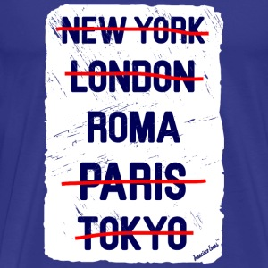 NY London Roma..., Francisco Evans ™ T-shirts - Herre premium T-shirt