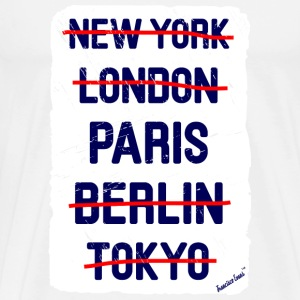 NY London Paris..., Francisco Evans ™ T-shirts - Mannen Premium T-shirt