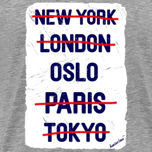 NY London Oslo..., Francisco Evans ™ T-shirts - Premium-T-shirt herr