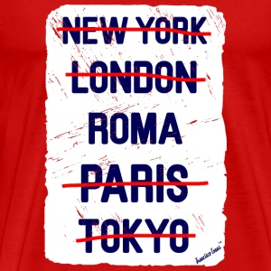 NY London Roma..., Francisco Evans ™ T-shirts - Premium-T-shirt herr