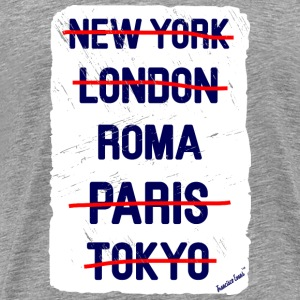 NY London Roma..., Francisco Evans ™ T-shirts - Mannen Premium T-shirt