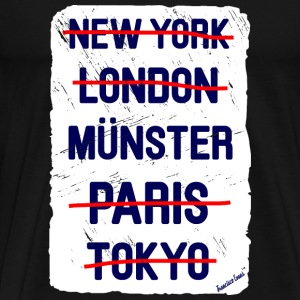 NY London Münster..., Francisco Evans ™ T-shirts - Herre premium T-shirt