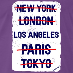 NY London Los Angeles..., Francisco Evans ™ T-skjorter - Premium T-skjorte for menn
