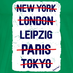 NY London Leipzig..., Francisco Evans ™ T-skjorter - Premium T-skjorte for menn