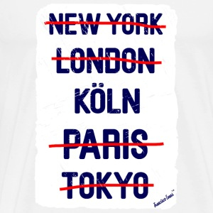 NY London Köln..., Francisco Evans ™ T-shirts - Herre premium T-shirt
