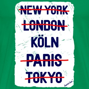 NY London Köln..., Francisco Evans ™ T-skjorter - Premium T-skjorte for menn