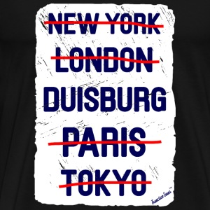 NY London Duisburg..., Francisco Evans ™ T-shirts - Herre premium T-shirt
