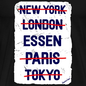 NY London Essen..., Francisco Evans ™ T-shirts - Premium-T-shirt herr