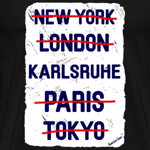 NY London Karlsruhe..., Francisco Evans ™ T-shirts - Herre premium T-shirt