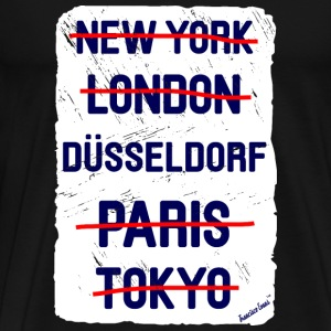 NY London Düsseldorf..., Francisco Evans ™ T-skjorter - Premium T-skjorte for menn