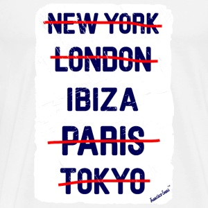 NY London Ibiza..., Francisco Evans ™ T-shirts - Herre premium T-shirt