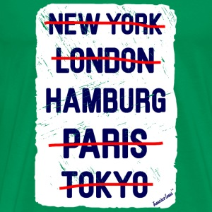 NY London Hamburg..., Francisco Evans ™ T-skjorter - Premium T-skjorte for menn