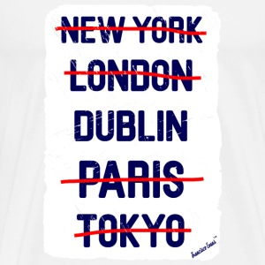 NY London Dublin..., Francisco Evans ™ T-skjorter - Premium T-skjorte for menn