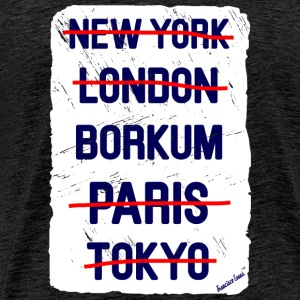 NY London Borkum..., Francisco Evans ™ T-skjorter - Premium T-skjorte for menn