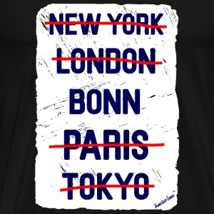 NY London Bonn..., Francisco Evans ™ T-shirts - Premium-T-shirt herr