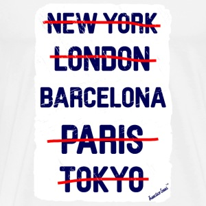 NY London Barcelona..., Francisco Evans ™ T-skjorter - Premium T-skjorte for menn