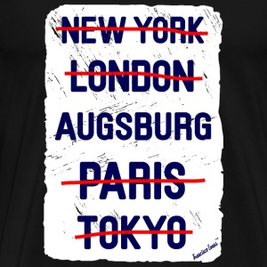 NY London Augsburg..., Francisco Evans ™ T-shirts - Herre premium T-shirt